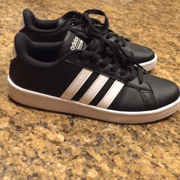 Adidas neo Cloudfoam , black with white stripes